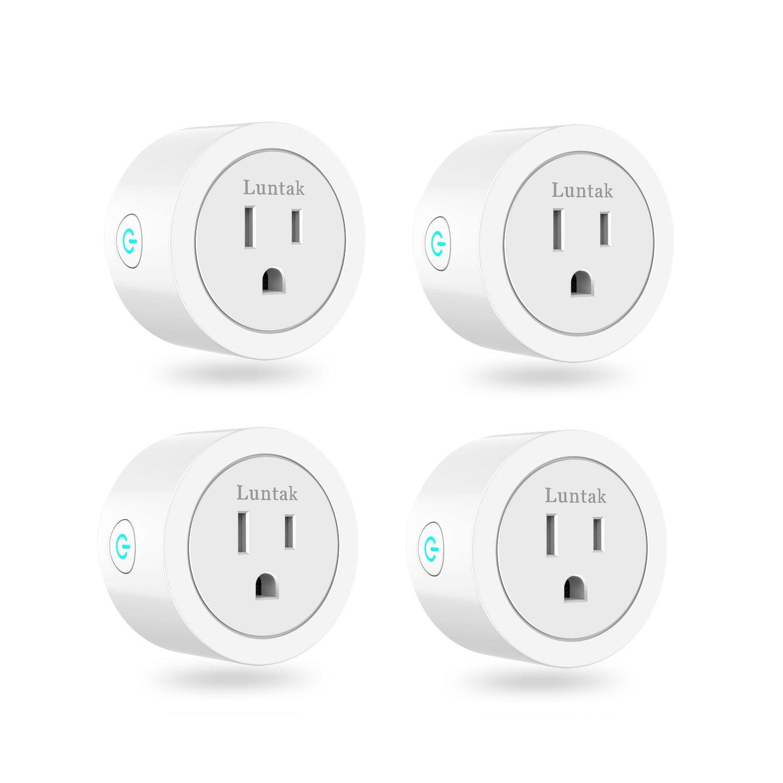 Luntak Mini WiFi Smart Plug Works Alexa Google Home IFTTT no Hub Needed Light Switch 4 Pack Puji