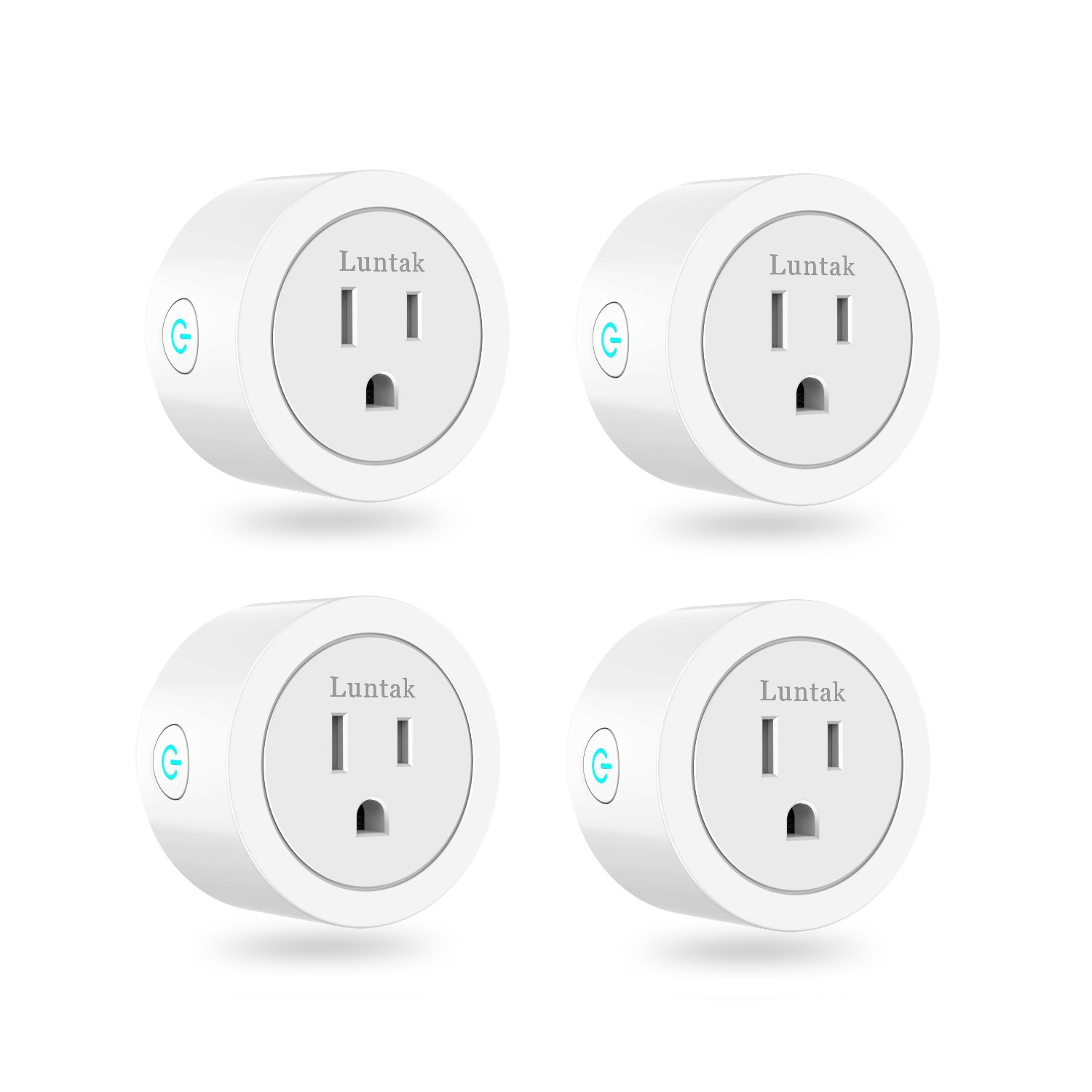 Luntak Smart Plug works with Alexa Google Home IFTTT No Hub Required Wifi Enabled Smart Outlet Timer