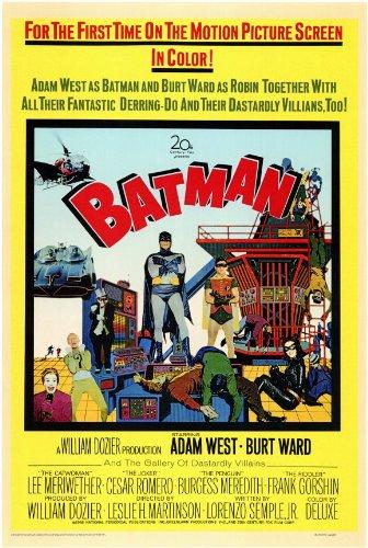 Batman Movie Poster (11 x 17 Inches - 28cm x 44cm) (1966) Style A -(Burt Ward)(Adam West)(Burgess Meredith)(Cesar Romero)(Frank Gorshin)(Lee Meriwether) -