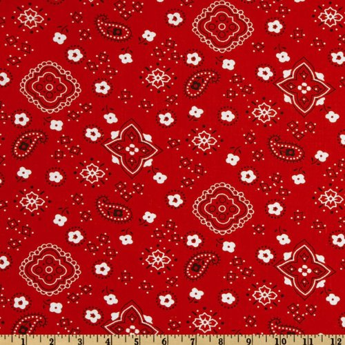 Bandana Fabric Red - Richland Textiles Bandana Prints Red Fabric by The Yard