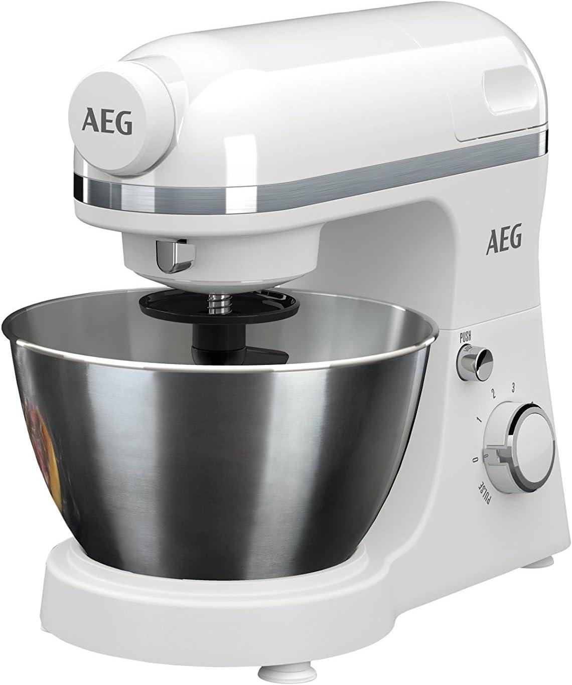 Robot de cocina Serie 3 de AEG, incluyeaccesorio de batidora Weiß ...