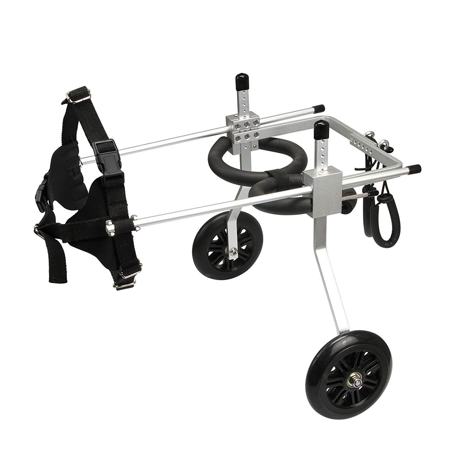 Anmas Home Adjustable Dog Wheelchair for Small Dogs Hip Height 13''-16'', Wheelchair for Back Legs Rehabilitaion