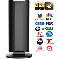 [2020 Latest] SUKSES Indoor HDTV Digital TV Antenna, Long 120 Miles Range, Powerful HDTV Amplifer Singal Booster, with Led Light, Premium Coax Cable, Support 4K 1080 Fire TV Stick and All TV