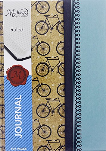 Bicycle Journal (Cute Retro Bicycle Pattern Design College Ruled Notebook Journal Diary with Magnetic Flap Closure, Multicolor, 192 Pages, 6