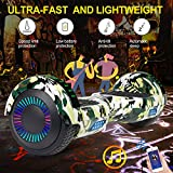 LIEAGLE Hoverboard Self Balancing Scooter Bluetooth Speaker Hover Board for Kids Adults with UL2272 Certified, Wheels LED Lights and Portable Carrying Bag