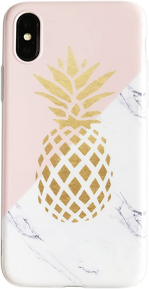 Yelovehaw Iphone Xs Case For Girls Flexible Soft Slim Fit Full Protective Cute Shell Phone Case With Marble And Golden Pineapple Pattern For Iphone X 5 8 Inch Marble Pineapple Amazon Ca Cell Phones