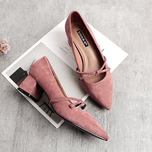 GAOLIM Sugerencia Irregular Con La Hembra Solo Zapatos De Otoño, Con El Alto Talón Zapatos Zapatos De Mujer Color