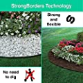 Landscape Edging Kit - Plastic Lawn Border - Landscaping Edge Roll - Garden No Dig Landscape Edging Heavy Duty 20 Feet