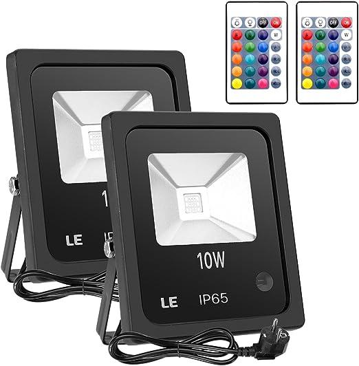 Lighting EVER - LED 2 focos de 10 vatios, 16 colores y 4 modos ...