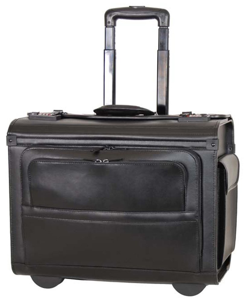 Netpack Leather Laptop Business case (Black) by Netpack