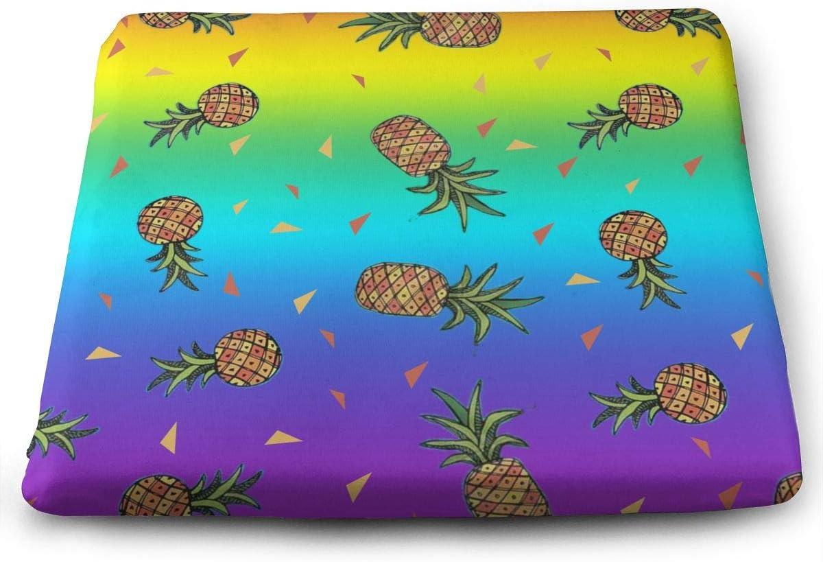 O X X O Rainbow Lgbt Pride Aloha Triple Pineapple Seat Cushion Car Seat Cushions To Raise Height Office Chair Comfort Cushion Seat Memory Foam Pad For Low Back Pain Home Kitchen