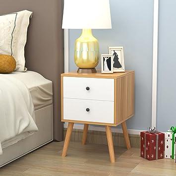 Nachttisch Nachttisch Schlafzimmer Massivholz Weiß Nachttisch Montage  Lagerung Lagerschrank ( Farbe : A , Größe :