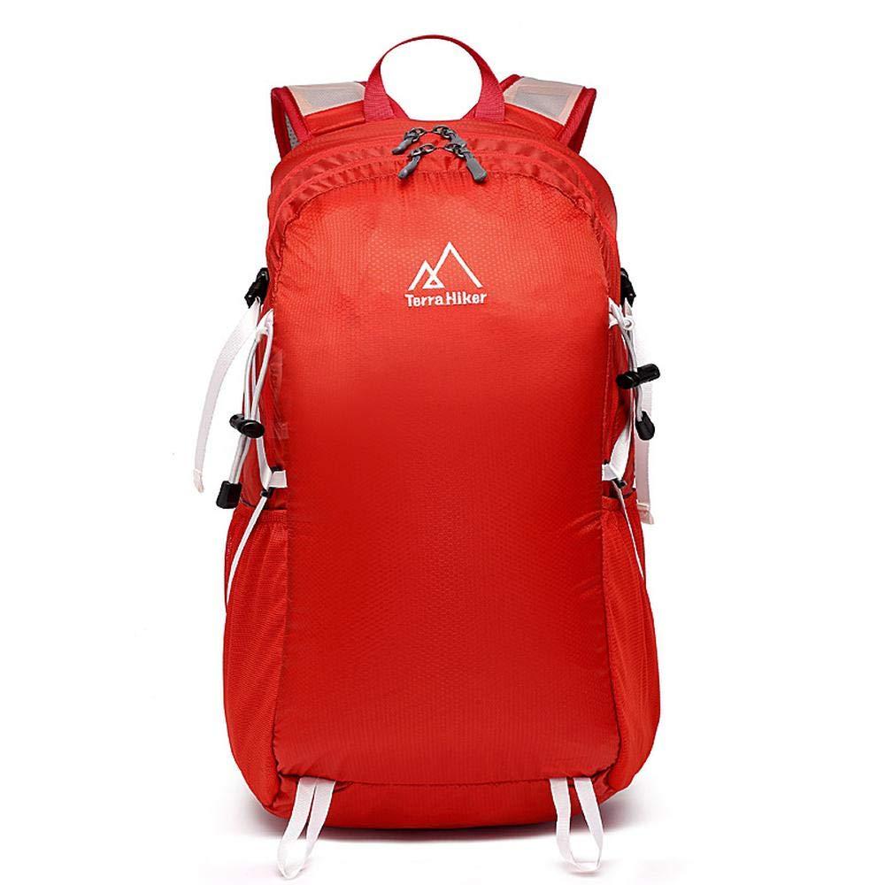 rouge 30L Sac à dos de voyage et de randonnée léger, 30 litres, sac à dos de sport de plein air ultra-léger, sac à dos de camping pliable, sac à dos tactique, sac d'équitation, unisexe