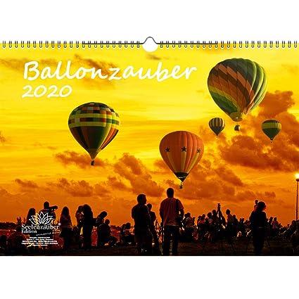Ballonzauber - Calendario 2020, formato DIN A3, incluye 1 tarjeta ...