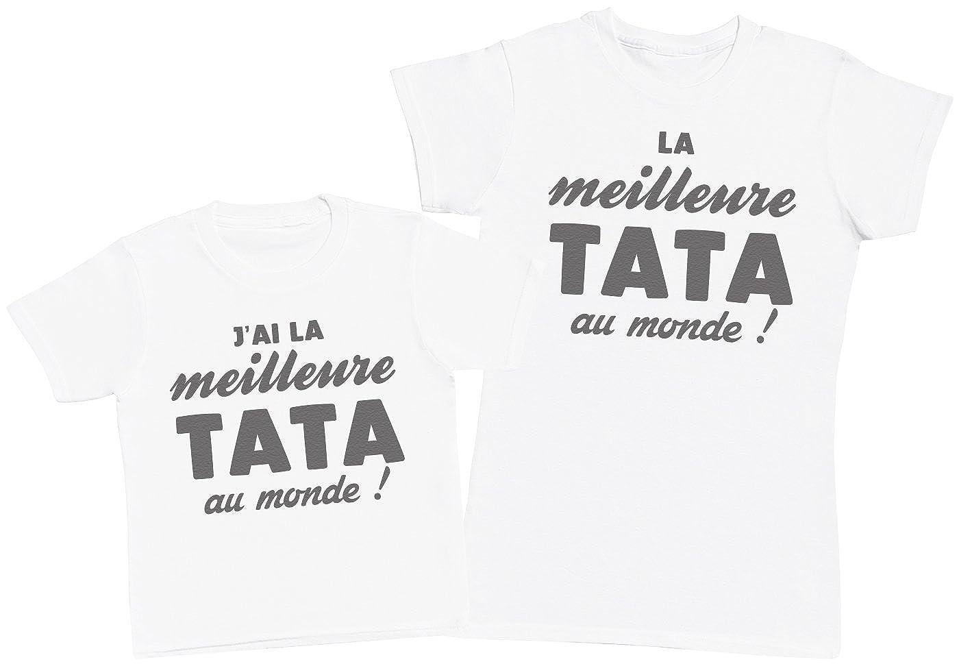 Ensemble M/ère B/éb/é Cadeau Zarlivia Clothing JAi la Fille la Plus g/éniale au Monde! Femme T Shirt /& b/éb/é Bodys