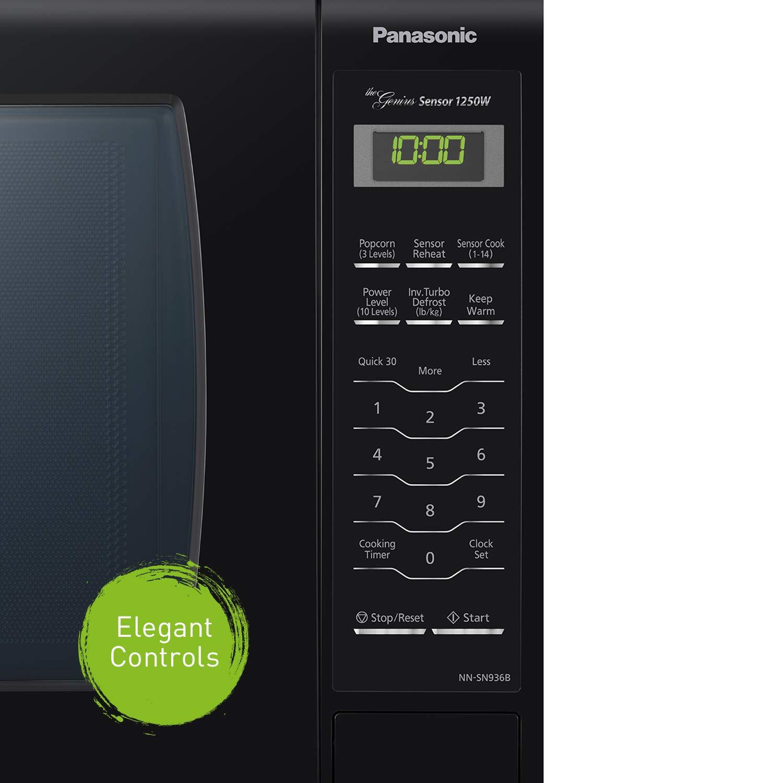 Panasonic NN-SN936 Encimera Solo - Microondas (Encimera, Solo microondas, 1250 W, Tocar, Negro, Botón): Amazon.es: Hogar