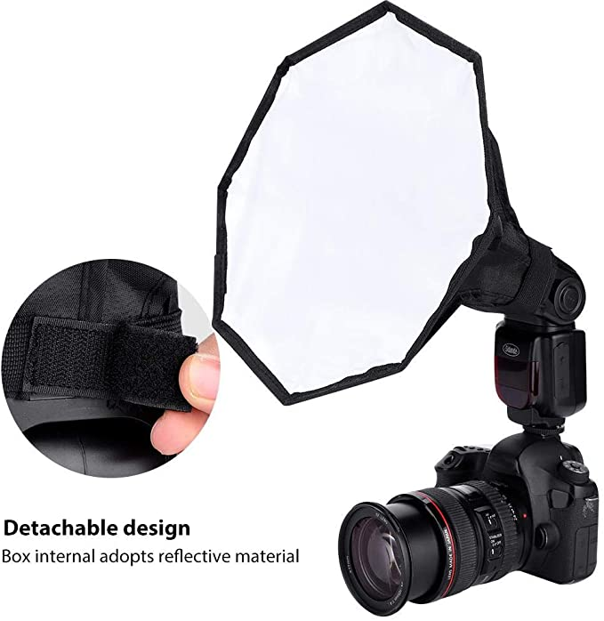 Portable Foldable Mini Soft Flash Light Diffuser Softbox Camera Studio 12 Color Film Universal Soft Box Top Flash V BESTLIFE Mini Soft Flash Diffuser