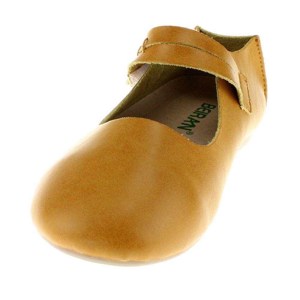Chiximaxu Little Girls Slip on Ballet Flats Casual Dress Shoe,Yellow,Toddler 9.5M