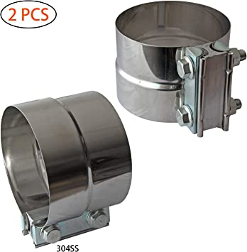 """High Grade Stainless Silencer Exhaust Box 4/"""" 5/"""" 6/"""" Body 1.75 2 2.25 2.5 3/"""" Inlet"""