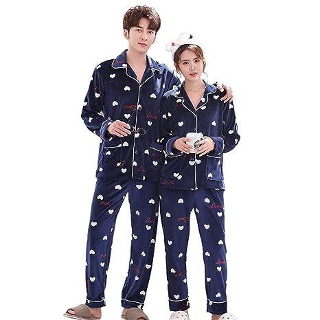 Comfortable Invierno Pijama De Franela Pareja, Trajes De Las ...