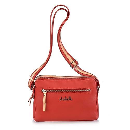 34611389045 EL CABALLO Bolso Bandolera Rojo 1016 - Mochilas y Bandoleras para Mujer   Amazon.es  Zapatos y complementos