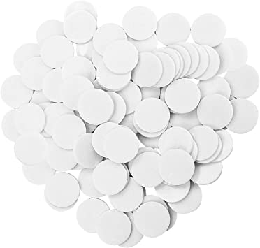 Coopay 300 Pieces 10 Colors Plastic Learning Counters Disks Bingo Chip Counting Discs Markers for Math Practice and Poker Chips Game Tokens,1Inch