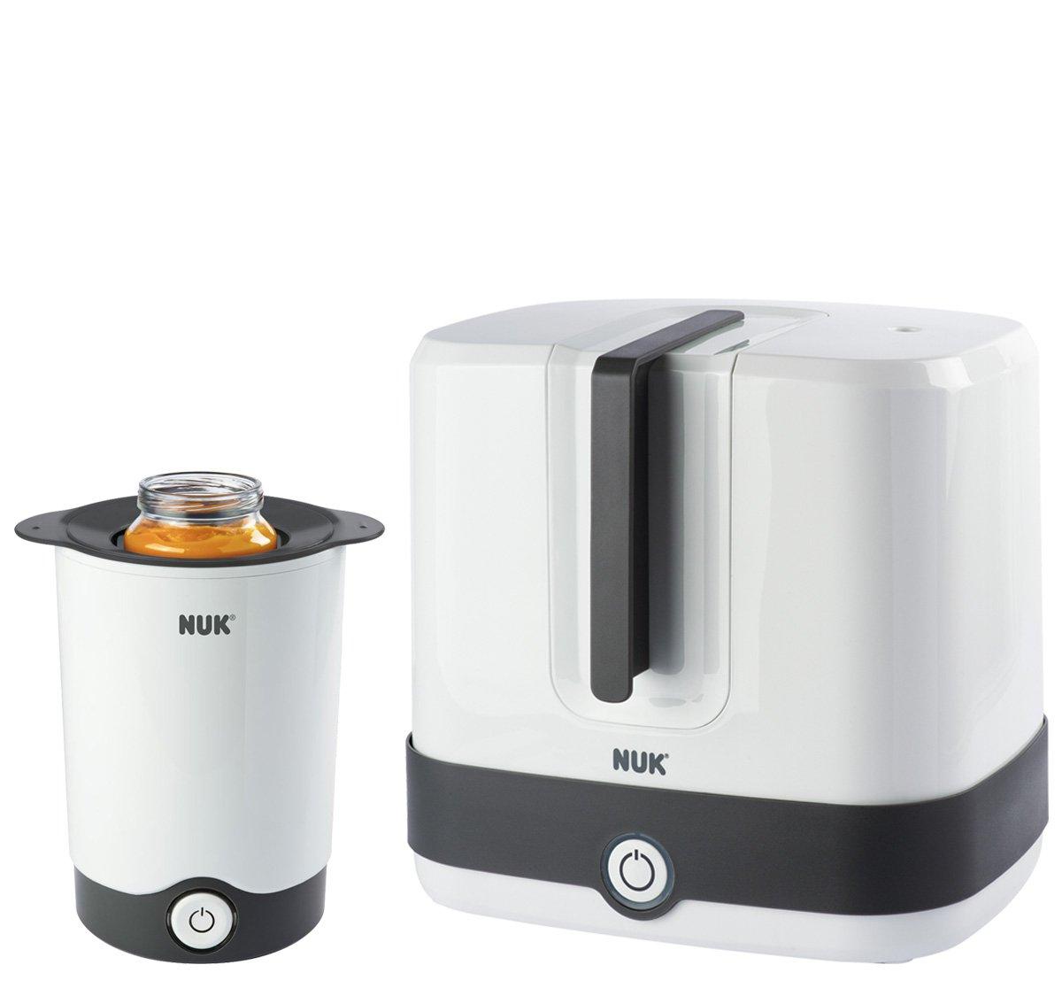 NUK Vario Express Dampf-Sterilisator, mit Multi Dry Trockenständer und Nature Sense Start Set