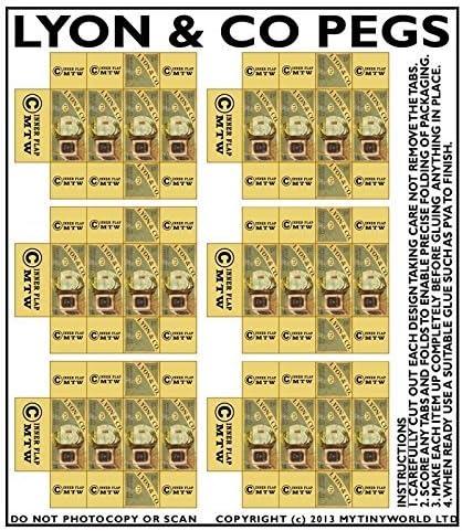 MyTinyWorld Dolls House Miniature sheet of 6 Lyon /& Co Peg Boxes