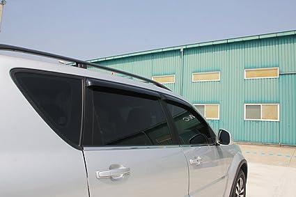 Accesorios I/II deflectores de viento Sombreretes anti-lluvia tintadas 4 piezas Safe Window Visor Tuning: Amazon.es: Coche y moto