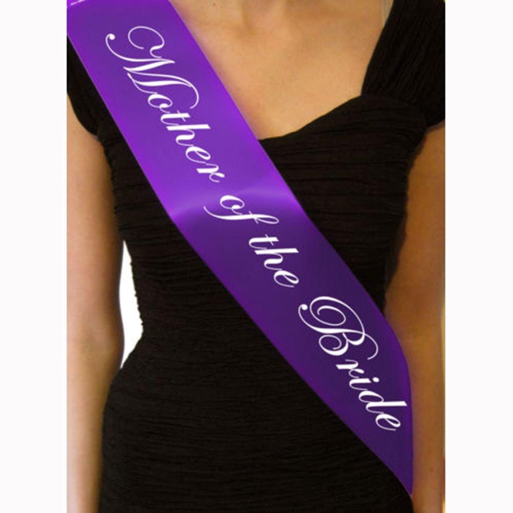 TXIN Purple Bachelorette Sash for Hen Party Bridal Shower-Bachelorette Sash, Wedding Party Favors Accessories Decorations (Mother of the bride)