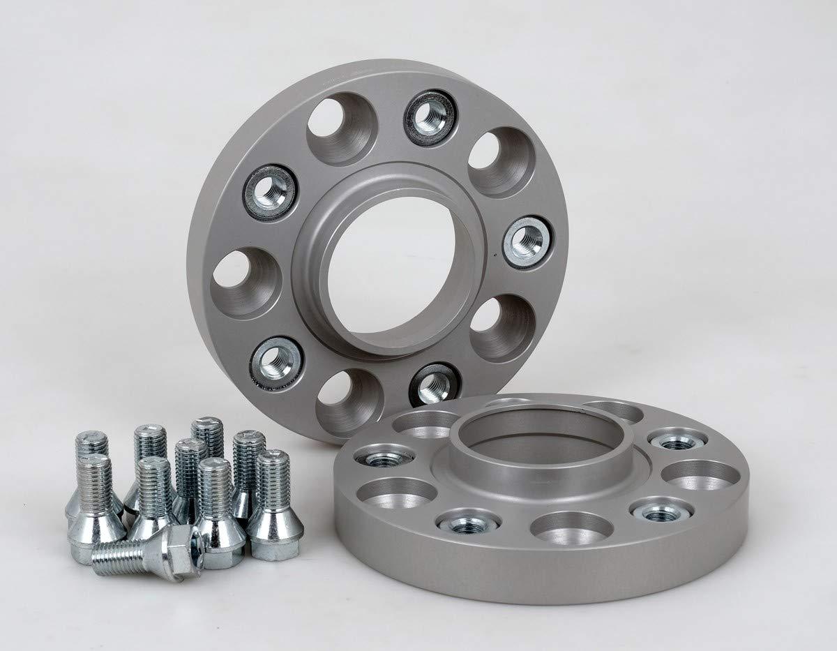 T/ÜV-Teilegutachten /& ABE inkl 20 mm pro Scheibe // 40 mm pro Achse Spurverbreiterung Aluminium 2 St/ück
