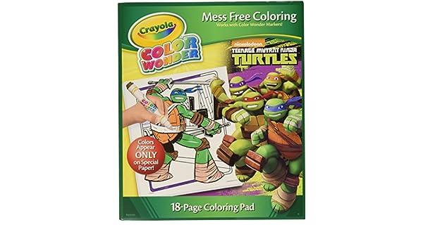 Crayola Color Wonder Coloring Pad, Teenage Mutant Ninja ...