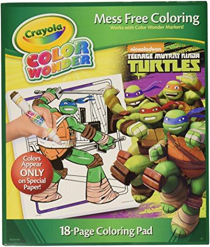 Teenage Mutant Ninja Turtles Crayola Color Wonder Coloring Pad