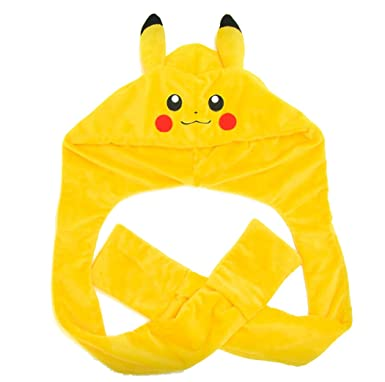 Enjoyable Pokemon Pikachu 3D Snood Hood Hat Gmtry Best Dining Table And Chair Ideas Images Gmtryco