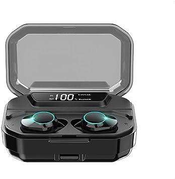 Azorex Auriculares Inalámbricos Bluetooth Impermeable Deportivos Mini Twins Stereo In-Ear Sonido Estéreo Auricular con Caja de Carga Portátil y Micrófono Integrado (T3S, Kumi Negro): Amazon.es: Electrónica