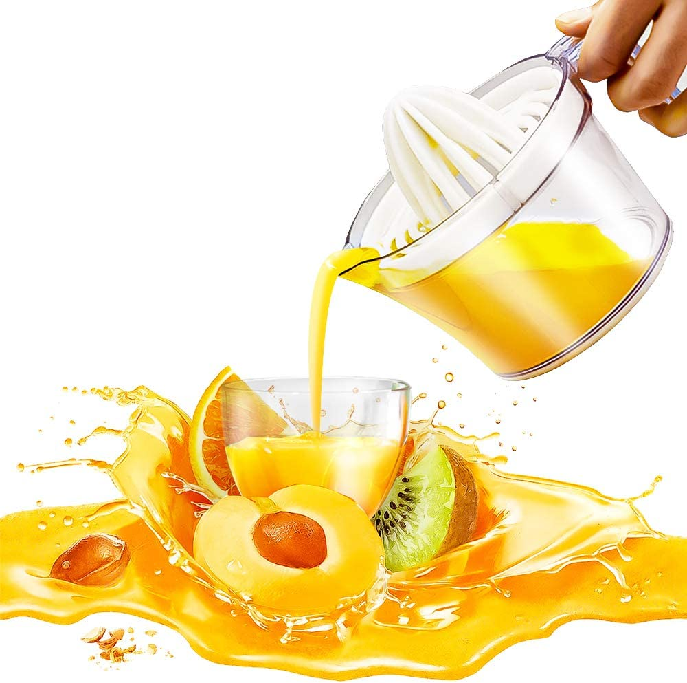 AVE Citrus Lemon Orange Juicer Manual Hand Squeezer, Fruit Juicer Lime Press with Built-in Measuring Cup, 16OZ