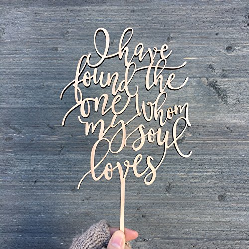 (I have found the one whom my soul loves Cake Topper, 5