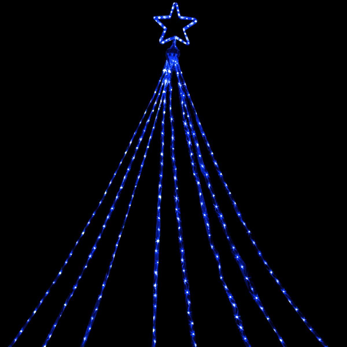 電光ホーム イルミネーション ドレープライト 5m×8本 (ブルー) B01N02QA9U 21384  ブルー