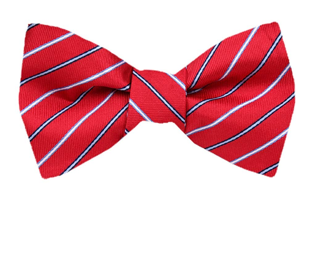 Mens Silk Big and Tall XL Self Tie Bow Tie X-Long Bow Ties