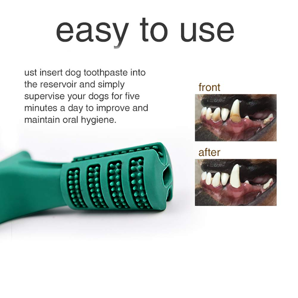 Diglife Dog Brushing Stick Large,Doggy Brushing Stick Chew Cleaning Toothbrush Dental Hygiene Toy, Food Grade Silicone Bite Resistant Soft Rubber Toy for Dogs, Cats, Most Pets, Gift for Pets Lover (L)