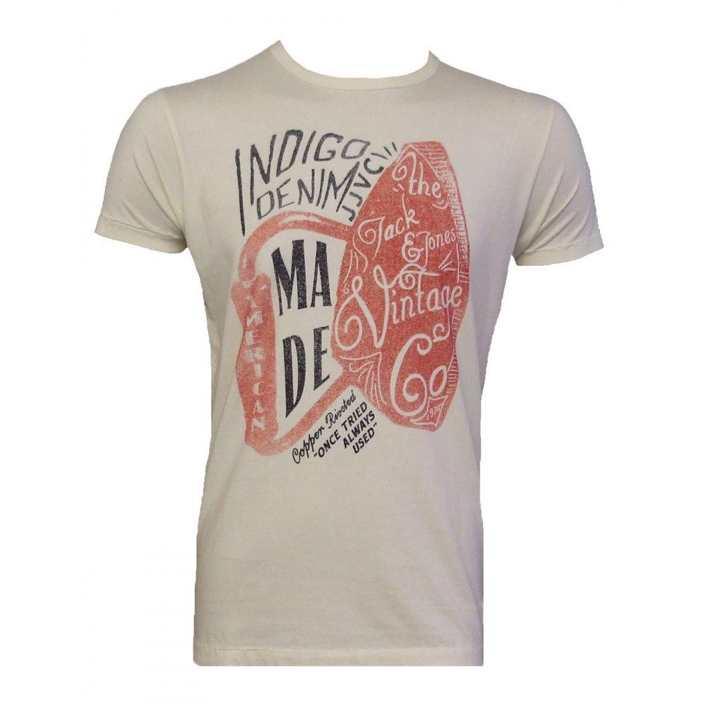 Jack & Jones Vintage - Camiseta - Tijeras tee Whisper Blanco Blanco Blanco Large: Amazon.es: Ropa y accesorios