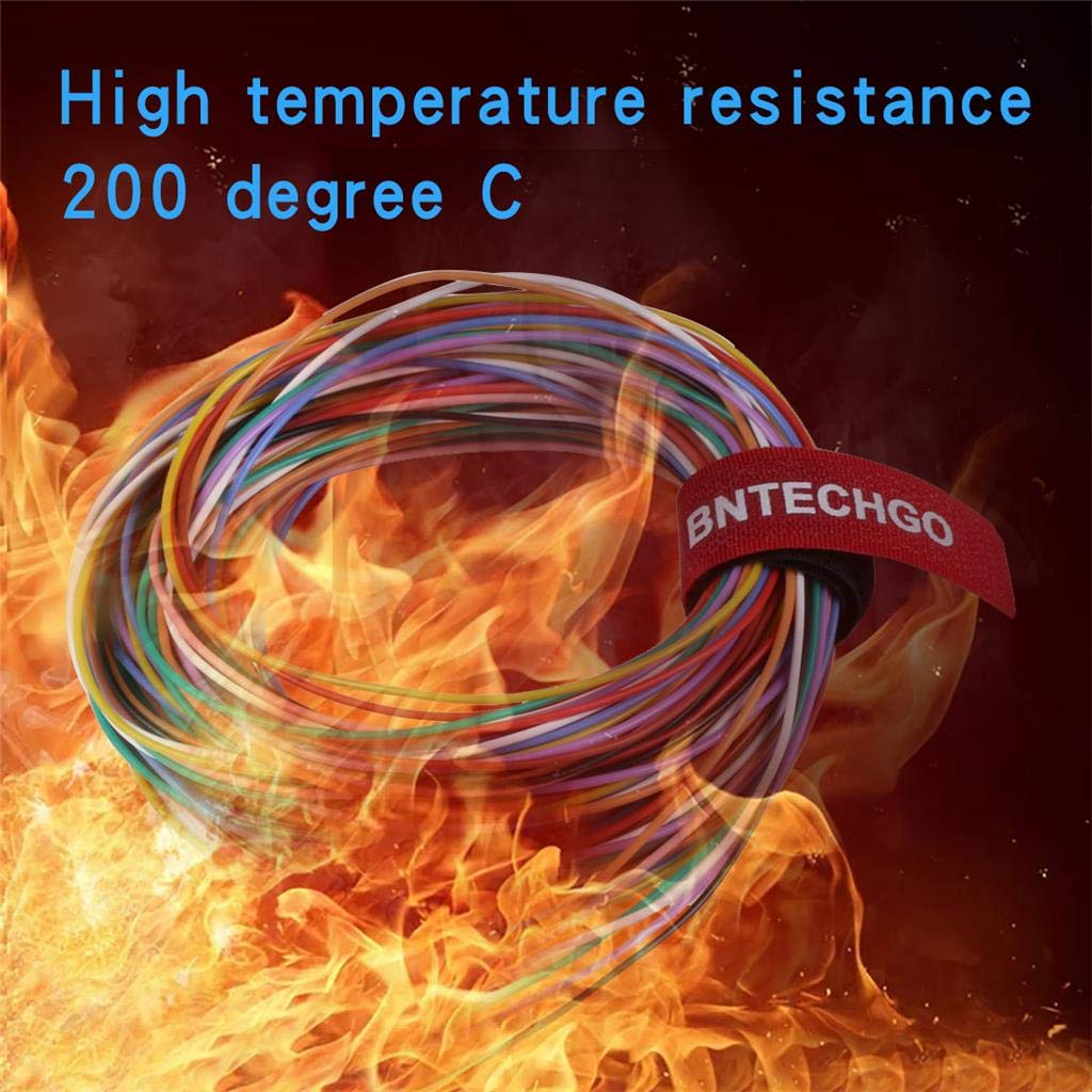 BNTECHGO 28 Gauge Silicone Wire Ultra Flexible 20 ft high Temp 200 deg C 600V 28 AWG Silicone Wire 16 Strands of Tinned Copper Wire Stranded Wire Model Cable Black and Red Each Color 10 ft