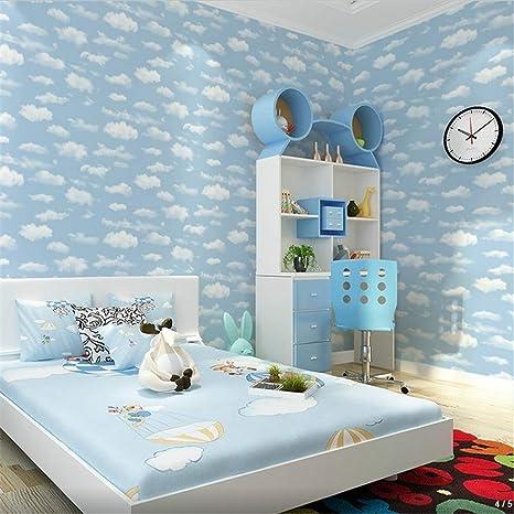 WLXZG Blauer Himmel Und Weiße Wolken Kinderzimmer Decke ...