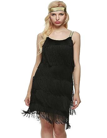 sholdnut Gatsby Dress White Sleeveless Tassel Dresses Sleeveless ...