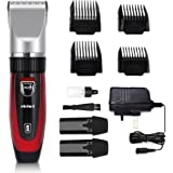 Electric Hair Clippers Hair Trimmer Electric Haircut Kit Ceramic Blade Rechargeable Battery for Men Kids Adults For Elehot (Red/Black/Blue)
