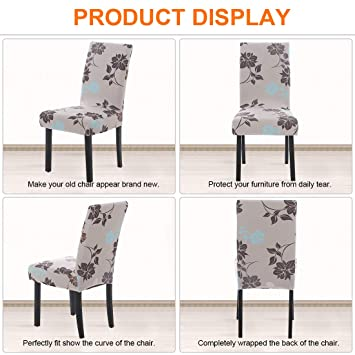 Buy 6 Pack Dining Chair Covers Stretch Chair Slipcovers For Dining Room Kitchen Hotel Removable Washable Floral Pattern K 8 Online At Low Prices In India Amazon In