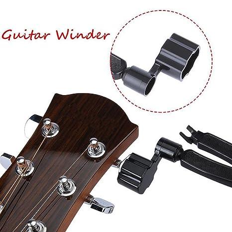 Herramienta de reparación 3 en 1 multifunción para guitarra, cortador y extractor de cuerdas