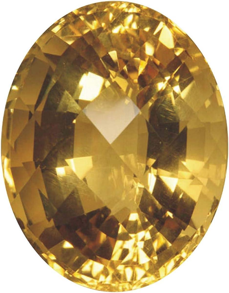 Tejvij And Sons Certified Yellow Topaz Gemstone