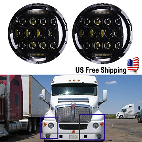 7-Inch-LED-Round-Headlight-Conversion-for-Kenworth-T2000-T-2000-Tractor-Trailer-Truck-150W-6000K-HiLo-Beam-Led-Headlamp-1-Pair