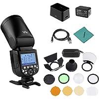 Godox V1C Flash de cámara Speedlite Speedlight Cabeza Redonda inalámbrica 2.4G Fresnel Zoom + Godox AK-R1 Kit de…